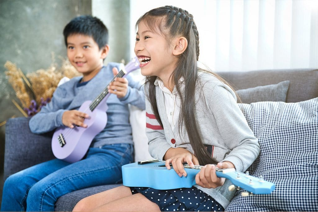 Kids Happy Playing Music
